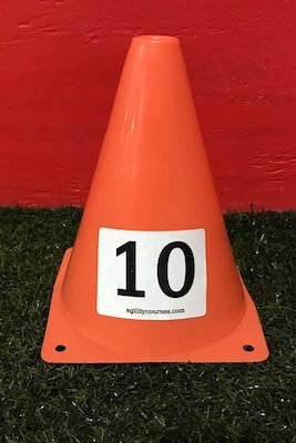Image showing a 2 inch tall number on a 7 in tall cone.