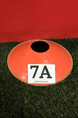 Image showing a 2 inch tall number on a flat cone.